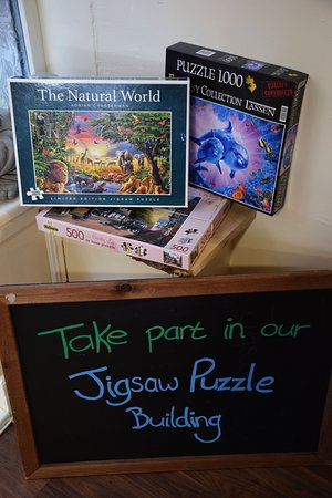 Ifyou have time, take a seat and help build some puzzles