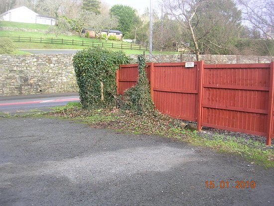 Car parking area next to St. Illtyd's Church (LLanelltyd)