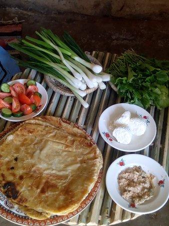 Kharga, Египет: Food in basata lodge