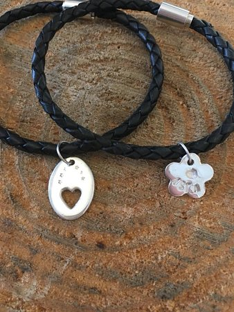 Bracelets and charms - Leather bangles option