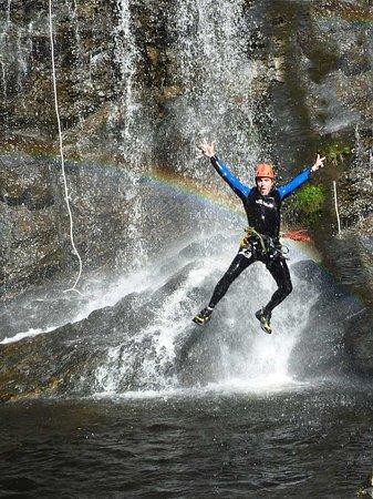 Cantal, France: saut canyon