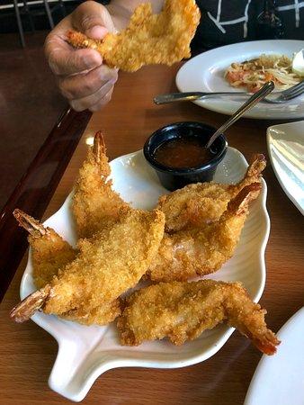 breaded butterflied shrimp