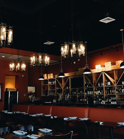 ChampionsGate, FL: Our bar seating, featuring an exquisite wine selection.