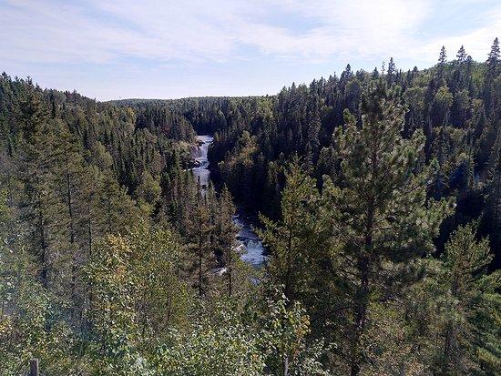 Wasserfälle oben an der Seilbahnstation