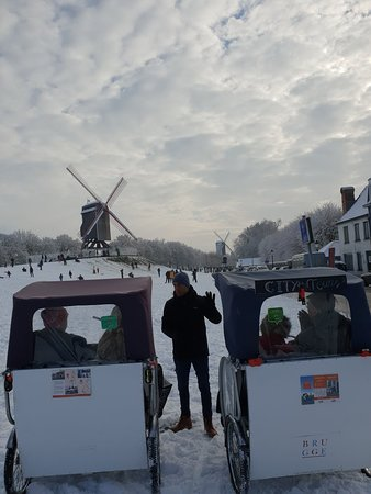 Winter magic at the windmills #Brugge