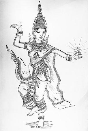 Mony Mekola - the beautiful Apsara Dancer, painted by Mr Tola