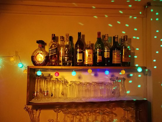 Our little, but well stocked bar