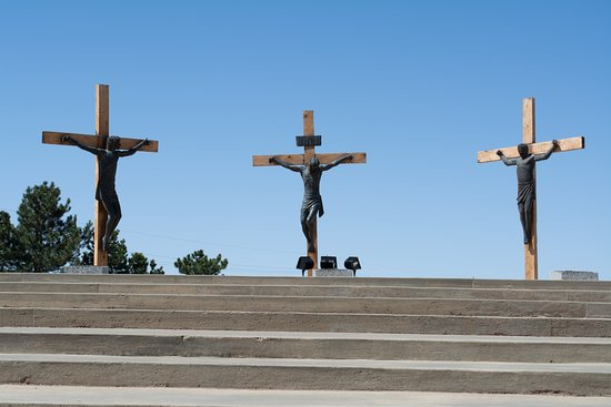A statue of Jesus on the Cross - Picture of The Cross of Our