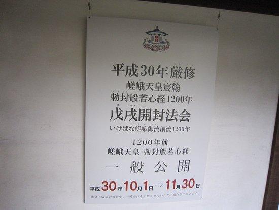 60年に一度の嵯峨天皇勅封 般若心経公開「戊戌開封法会」に行き当たりました。入るしかない選択をして正解です