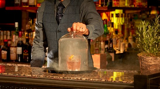 Smokey Old Fashion at The Mint Bar