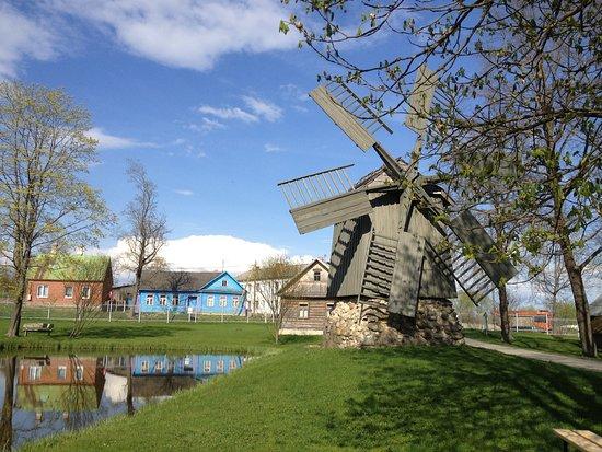 Ludza Medieval Castle Ruins: Вид на исторический и этнографический музей Лудзы