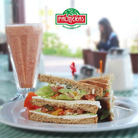 Start your day with a nutritious and delicious breakfast, it can be with a vegetarian sandwich accompanied by a delicious energy liquefied.  Check our menu on our website www.restaurantepalmeras.com