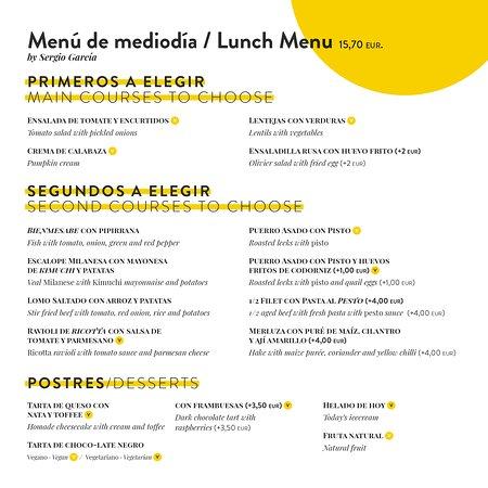 Laveronica : Menú de mediodía
