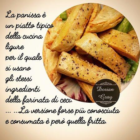 Dorian Gray Restaurant Bistrot  La Panissa. Piatto tipico della storia di Novi Ligure. Famosa quella fritta.