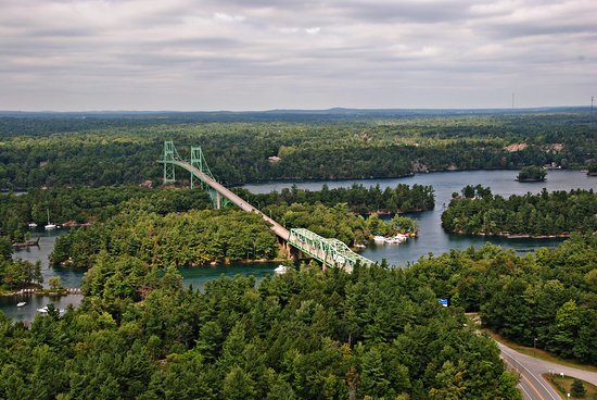 The St Lawrence River and bridge