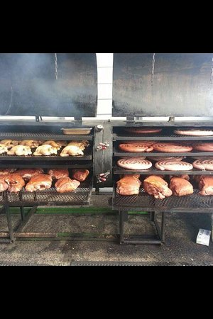Pocono Mountains Region, PA: All real wood fired smoking process