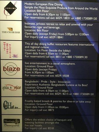 Einrichtungen Und Restaurants Im Hotel Picture Of Radisson Blu Dhaka Water Garden Dhaka City Tripadvisor