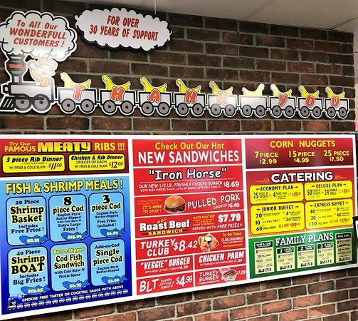 in-store menu