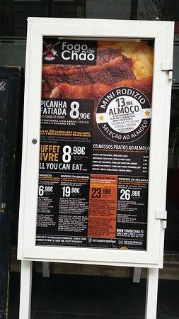 Fogo de Chao: Il menu