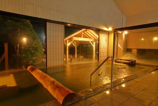 Ogaonsen Yuinoyado Bettei Tsubaki : 男性大浴場「錦の湯」内湯