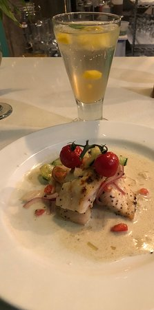 Perham, MN: Red snapper with vegetable ceviche