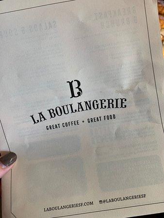 La Boulangerie: Menu