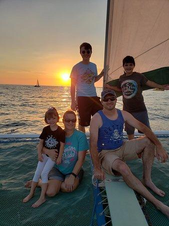 Sunset sailing on the emerald coast!