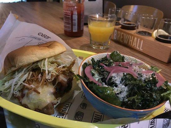 Surprisingly good salad with burger