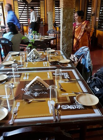 Table laid out