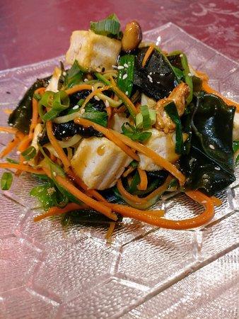 Vegetarian tofu salad