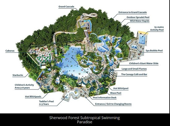 Center Parcs Sherwood Forest Map Subtropical swimming paradise map   Picture of Center Parcs