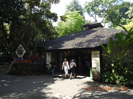 Entrance to National Orchid garden inside Singapore Botanic Gardens