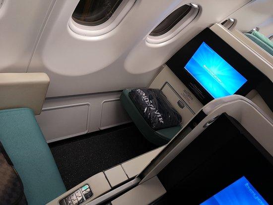 Korean Air: ホーチミンから仁川までのプレステージクラス フルフラットになるので快適