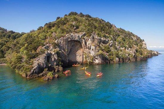 从陶波到毛利人雕刻的半日皮划艇