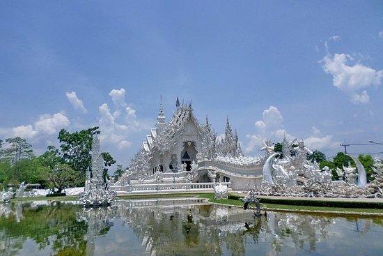 En dagstur Chiang Rai, hvitt tempel...