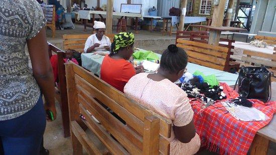 Kenana Knitters: Local ladies finishing their work