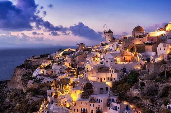 Excursão organizada em Santorini meio...