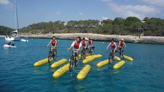 Puybrun, Francia: water bike 46