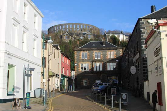 Oban Distillery and McCaig's Tower