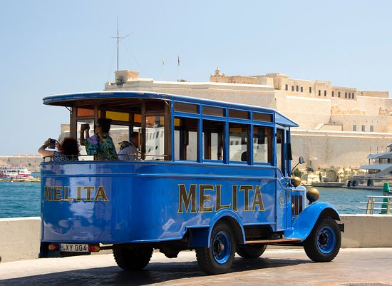 Sliema, Malta: Take our Vintage Bus to visit the Three Cities. Tour is available on Monday, Tuesday, Wednesday, Friday & Saturday.