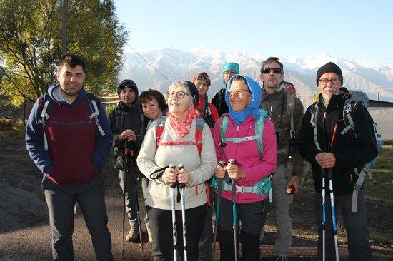 Avec des francais, pres de Tonekabon. (Nord de l'Iran)