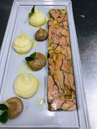 Marbré de Foie gras, purée de Marron