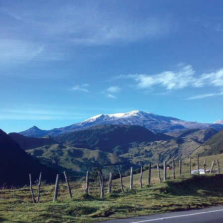Nevado del Ruiz. One the breathtaking views you'll enjoy while climbing the Mythical Alto de Letras