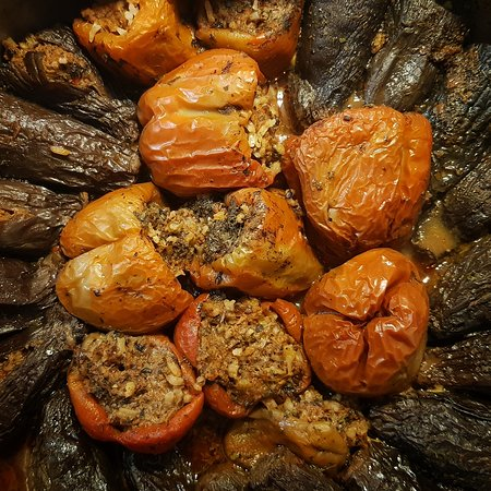 """Yaska Ev Yemekleri: This dish is called """"Biber Dolması"""" it's basicly pepper filling with rice and minced meat. Popular dish at Turkish cousine."""