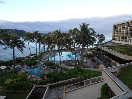 Turtle Bay Resort: A view of the pools, hot tubs, and ocean