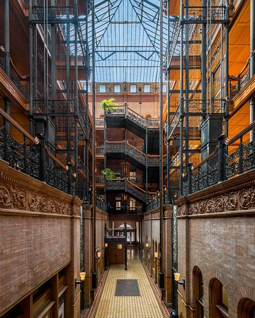 Bradbury Building, across the street from the Grand Central market.  Kind of creepy in its Victorian-ism.