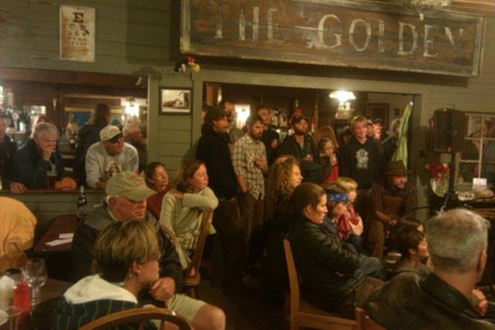 The Golden Saloon: Annual  Fundraiser for local non-profit WMC  Tall Tales has everyone's attention!