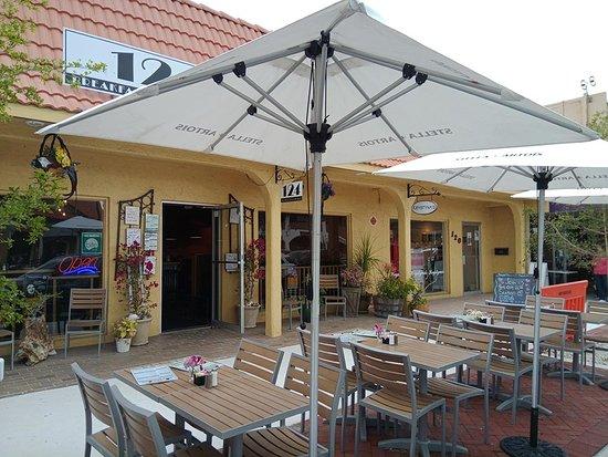 Outdoor patio of 124 restaurant