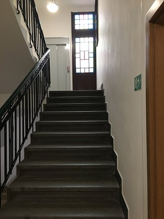 First flight of stairs from front entrance