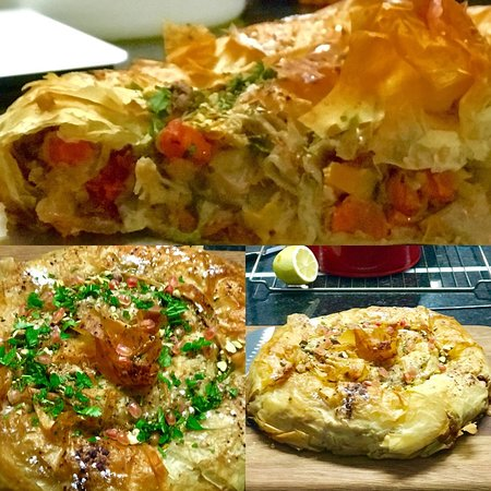 Vegan Moroccan M'hanncha Pie